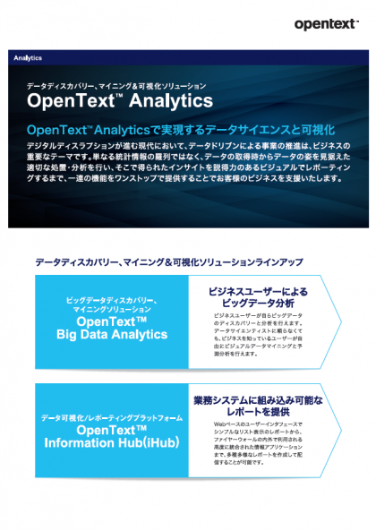 情報データ分析&可視化ソリューション