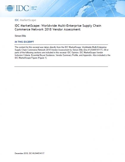 「IDC MarketScape」マルチエンタープライズ・サプライチェーン・コマース・ネットワーク(SCCN)におけるオープンテキストの評価
